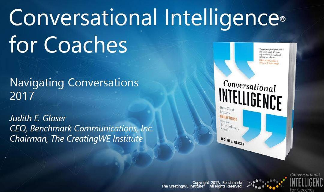 Conversational Intelligence for Coaches Training Completed